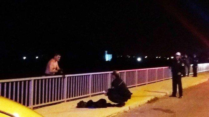 Dalaman'da Köprüsünde İntihar Girişimi