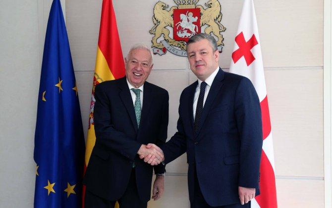 Gürcistan Başbakanı Kvirikashvili, İspanya Dışişleri Bakanı Garcia'yı kabul etti
