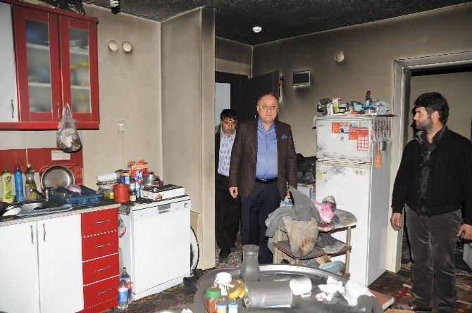 Başkan Babaş, Yangınzedeleri Ziyaret Etti