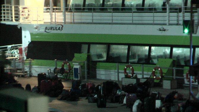Deniz otobüsünde bomba ihbarı polisi alarma geçirdi