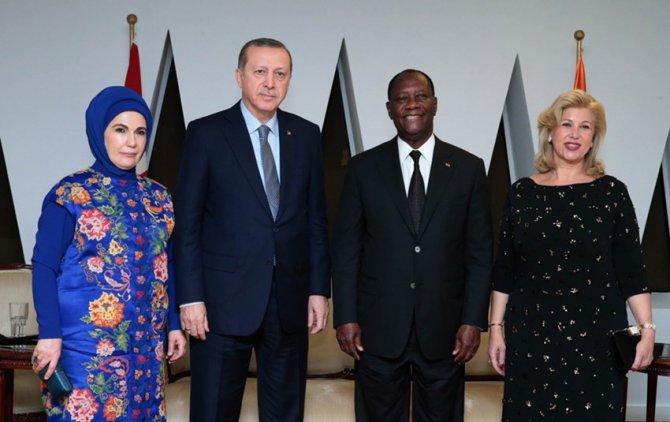 Cumhurbaşkanı Erdoğan, Fildişi'nde onuruna verilen yemeğe katıldı