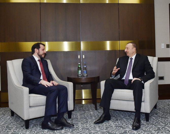 Aliyev, Berat Albayrak'ı kabul etti