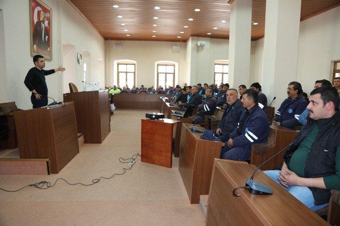 Urla'da Belediye Personellerine İş Güvenliği Eğitimi
