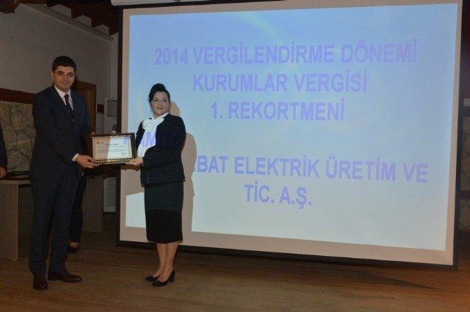 Vergi Rekortmenlerine Ödülleri Verildi