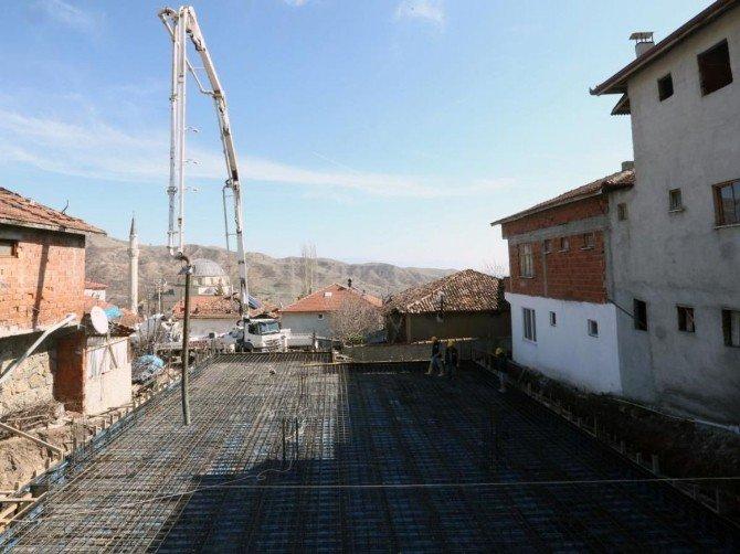 Mercimek Köy Konağının Temeli Atıldı