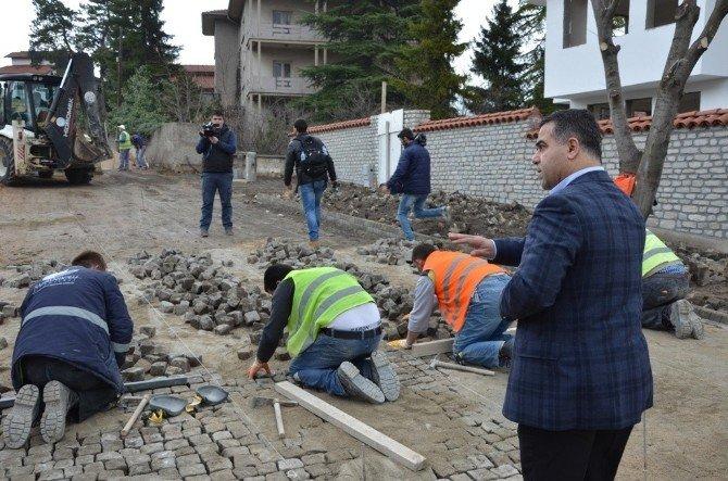 Safranbolu'da Granit Yol Çalışması