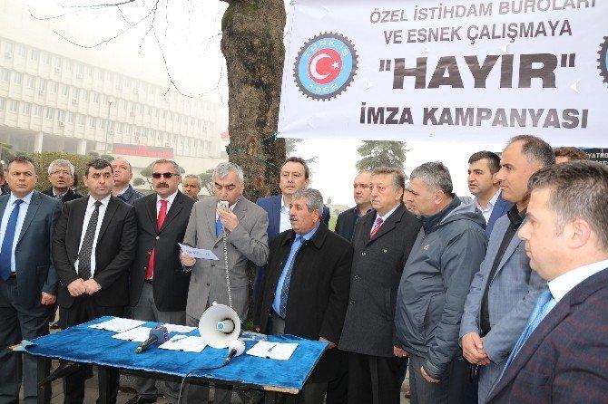 Türk-iş, Kiralık İşçiliğe Karşı İmza Kampanyası Başlattı