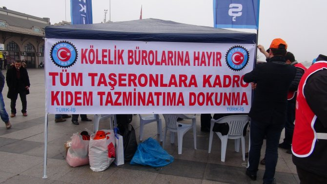 TÜRK-İŞ'ten 'kiralık işçi' yasasına karşı imza kampanyası