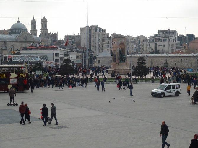 Taksim'de yoğun güvenlik