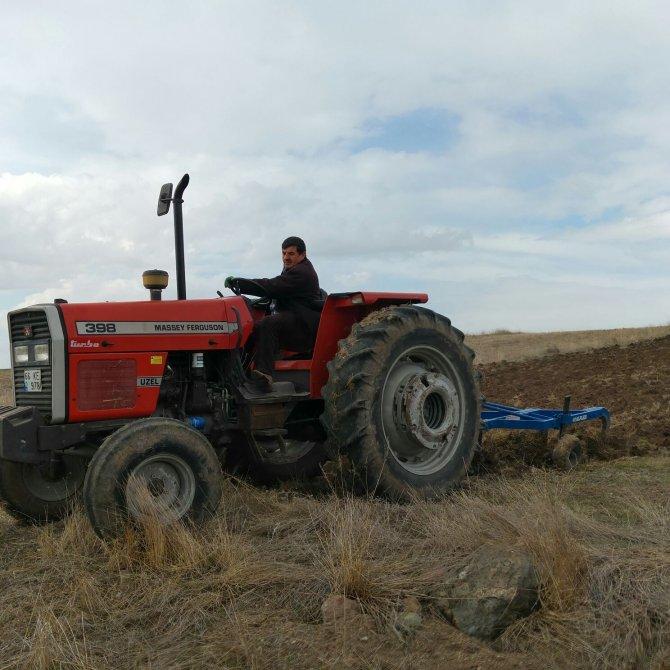 Çiftçiler aspir için hazırlıklara başladı