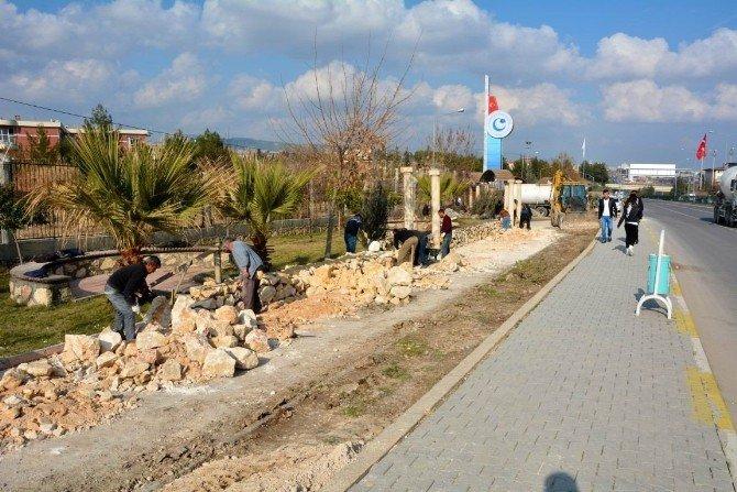 Adıyaman Üniversitesi Önünde Yol Genişletme Çalışması