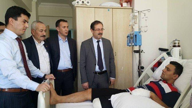 AK Parti Yozgat Milletvekili Abdulkadir Akgül, GATA'da Tedavi Gören Yozgatlı Gazi Astsubay'ı Ziyaret Etti