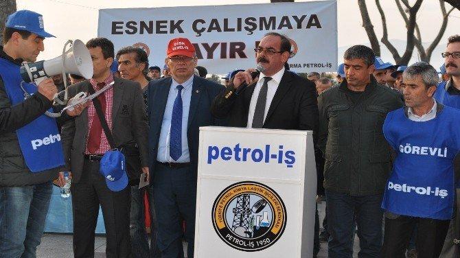 Bandırma Petrol İş'ten Protesto