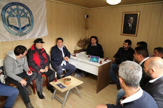 Başkan Kocadon'dan Profesyonel Yatçılar Derneği'ne Ziyaret