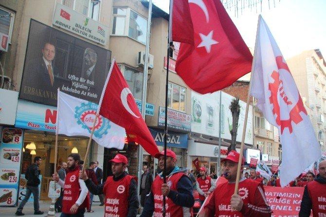 DİSK'e Bağlı Birleşik Metal-iş Sendikası İşçilerinden Protesto