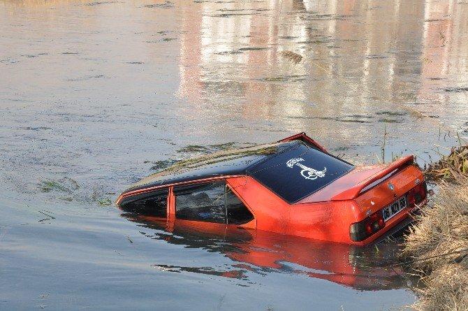 Virajı Alamayan Otomobil Ceyhan Nehri'ne Uçtu