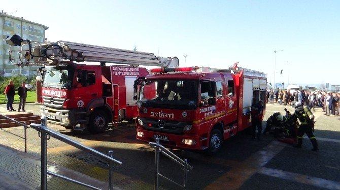 Giresun Valiliği Binasında Deprem, Yangın Ve Tahliye Tatbikatı