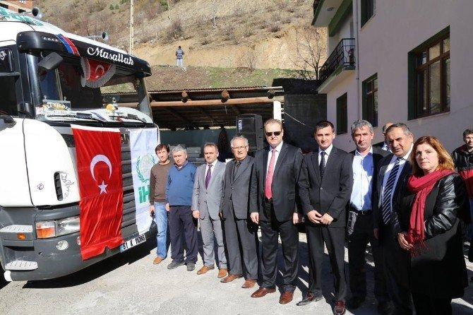 Kürtün'den Bayırbucak Türkmenlerine Yardım