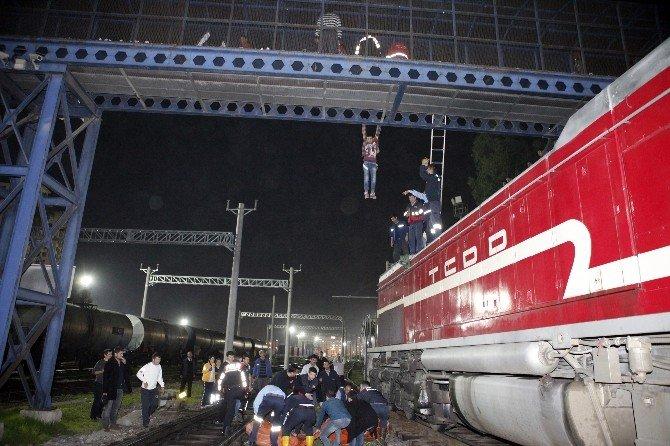Tren Garında İntihar Girişimi