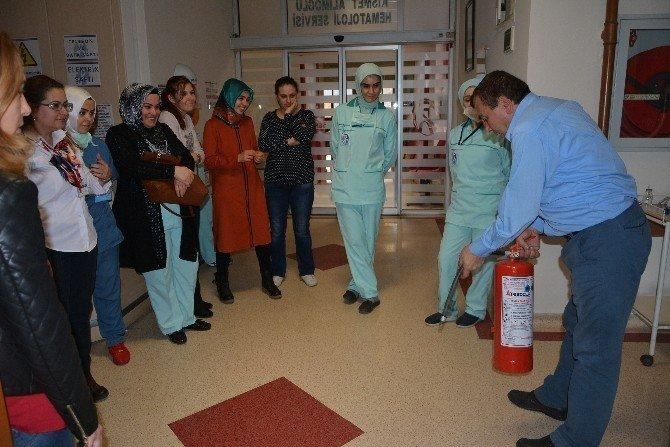 PAÜ Hastanesi'nde Yangın Tatbikatı