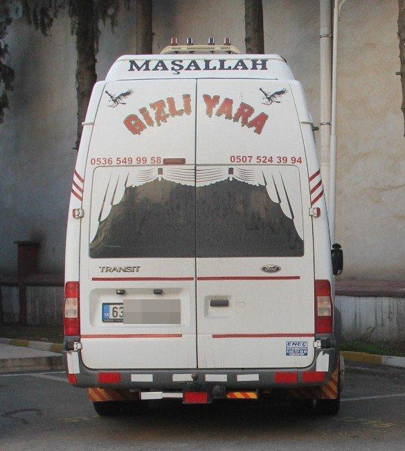 """Maşallah"" Yazılı Minibüste 93 Kilo Esrar Ele Geçirildi"