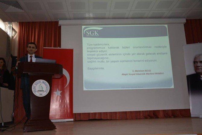 Alaplı MYO'da, SGK Bilgilendirme Toplantısı Yapıldı