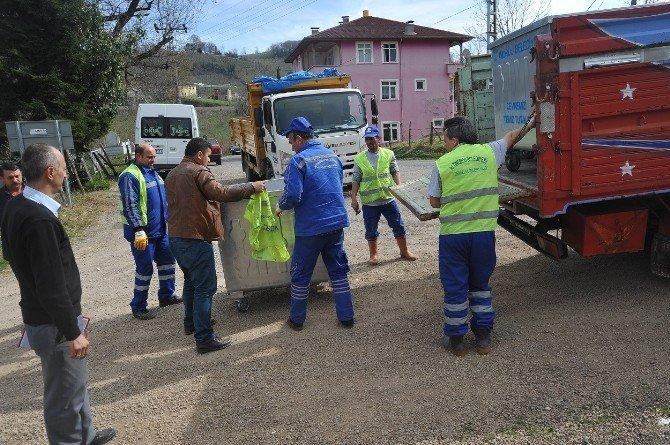 Altınordu'da Kırsal Alanda Çöp Toplamaya Başlandı