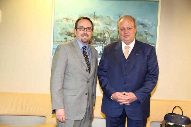 ABD Büyükelçisi'nden ASO Başkanı Özdebir'e ziyaret
