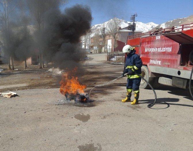 Başkale'de Deprem Ve Yangın Tatbikatı