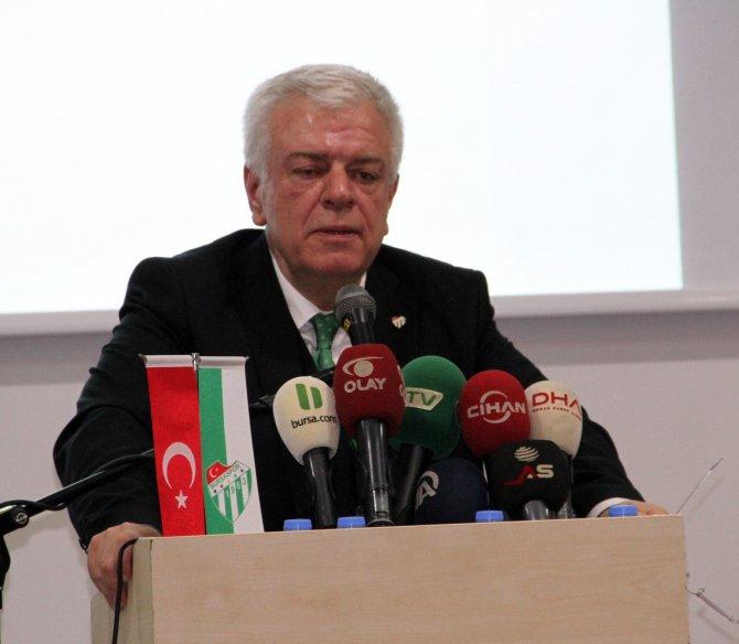 Bursaspor Başkanı Ali Ay: Kafama silah dayasanız pahalı transfer yaptıramazsınız