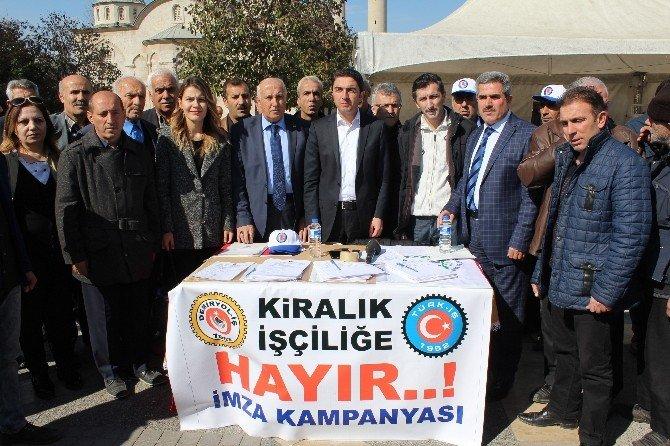 CHP'den 'Kiralık İşçiliğe Hayır' Kampanyasına Destek