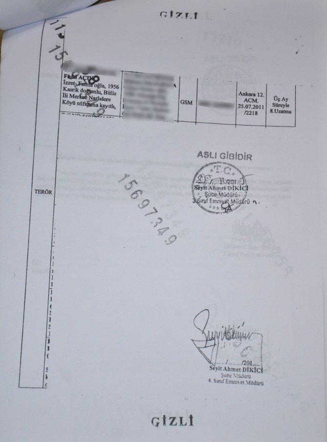 Mahkeme dinlemelerin aslını istedi, istihbarat belgeleri karartıp fotokopi verdi