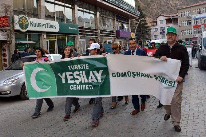 Gümüşhane'de Sağlıklı Yürüyüş Etkinliği Düzenlendi