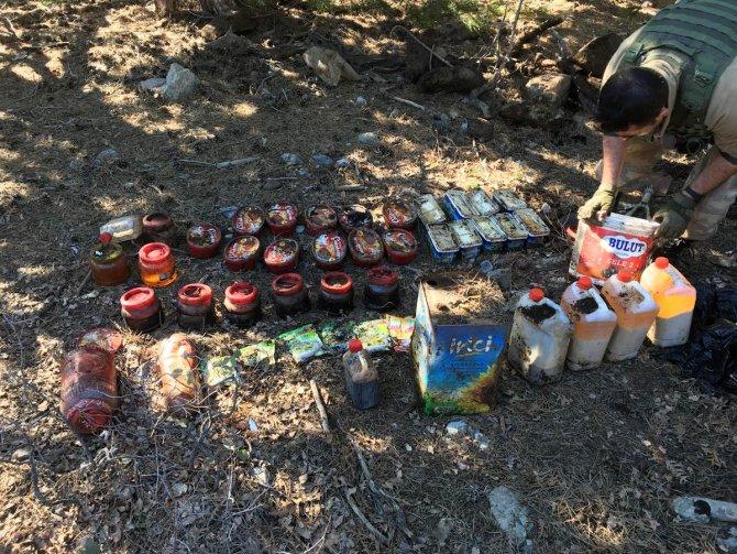 Amanoslarda PKK'ya ait gıda depoları ele geçirildi