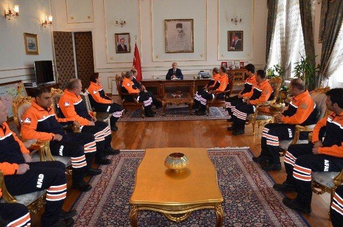 AFAD Ekibinden Vali Salihoğlu'na Ziyaret