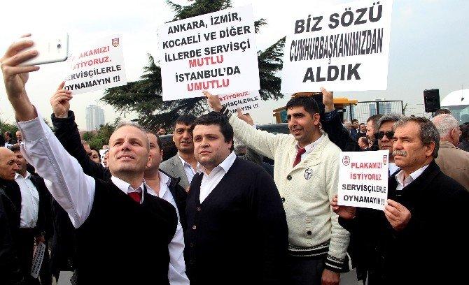 Servisçilerin Plaka Tahdidi İsteği Sürüyor