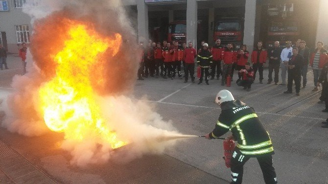 Arama Kurtarma Timlerine Yangın Eğitimi
