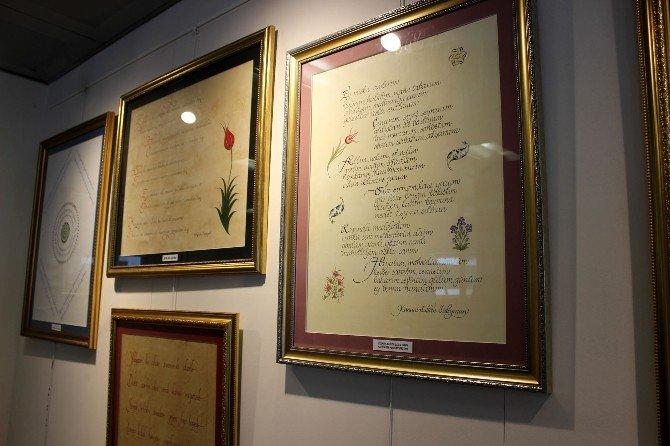 Şair Padişahların Şiirleri Kaligrafiyle Can Buldu