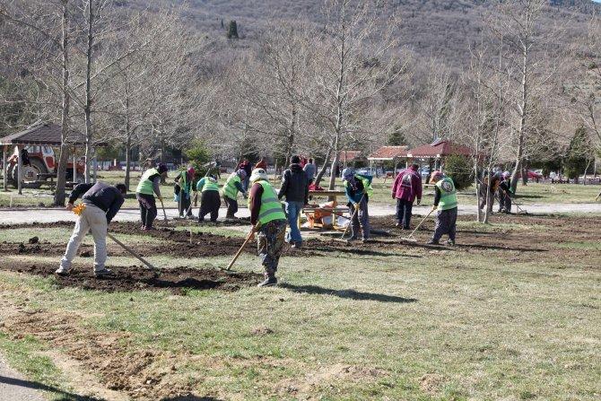 Seydişehir'in Kuğulu Park'ı yaza hazırlanıyor