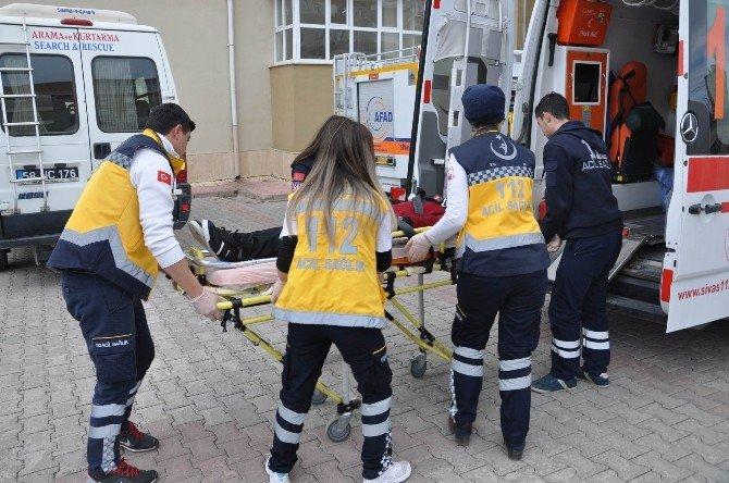 Sivas'ta Deprem Tatbikatı Gerçeğini Aratmadı