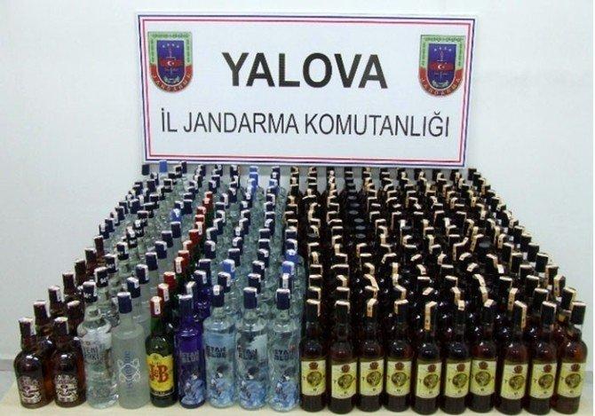 Yalova'da 328 Litre Kaçak İçki Ele Geçirildi