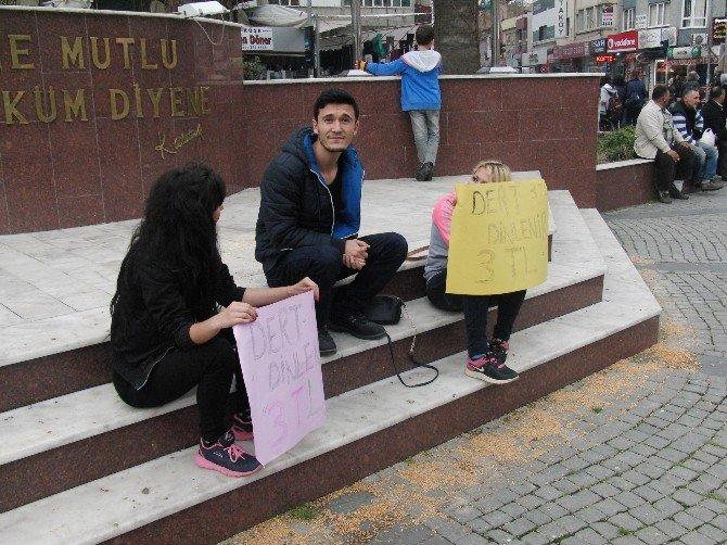 3 Lira'ya Dert Dinlediler