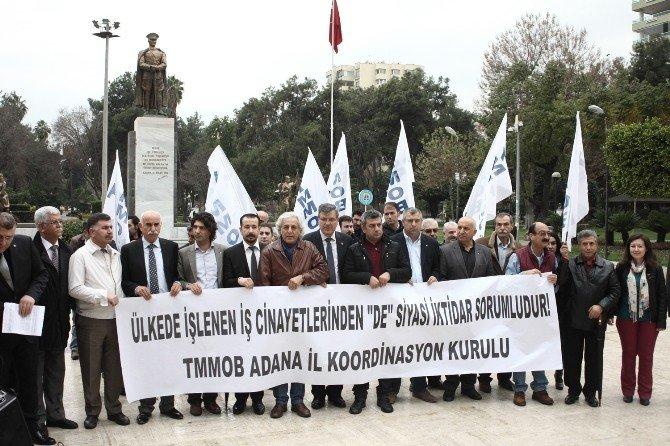 Adana'da İş Faciaları Protesto Edildi