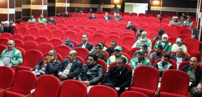 Adıyaman Belediyesi Taşeron İşçilerine İş Güvenliği Eğitimi