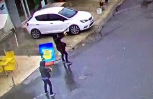 Saldırı anı kamerada