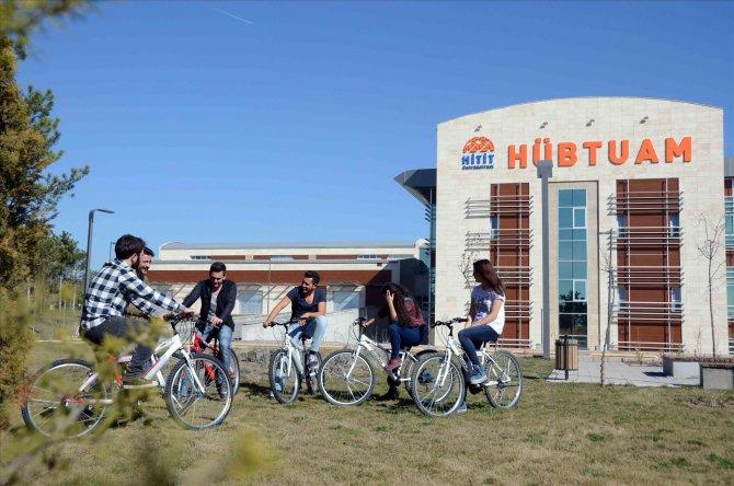 Hitit Üniversitesi'nde bisikletli günler
