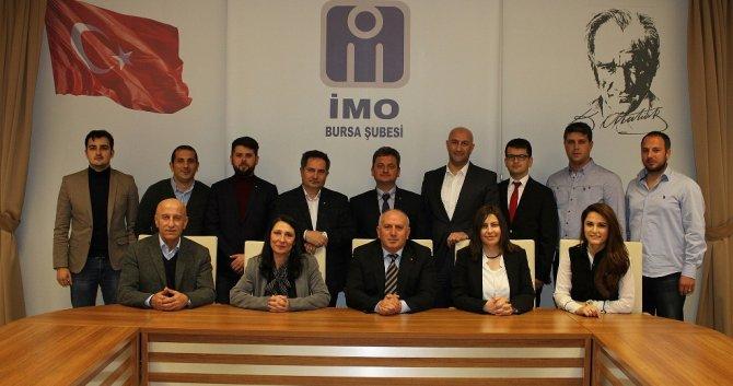 İMO Bursa şubesinde görev değişimi