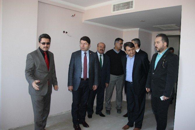 AK Parti Milletvekili Tunç Bartın Öğretmenevi İnşaatını İnceledi