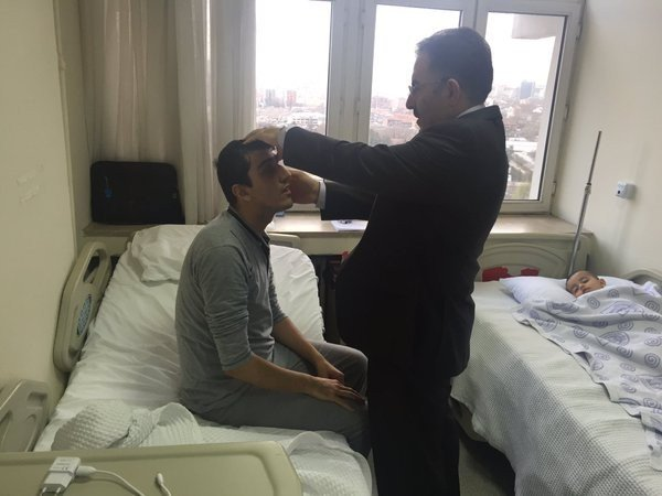 AK Parti Yozgat Milletvekili Ertuğrul Soysal'dan GATA'da Tedavi Gören Gazilere Ziyaret