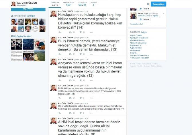 Avukat Celal Ülgen: AYM'nin kararına cumhurbaşkanı da Yargıtay'da uyar